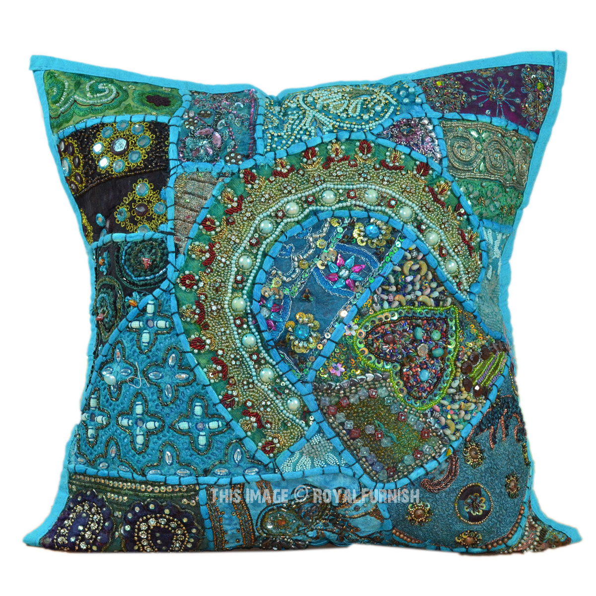 Decorative Pillows With Beads : 16X16
