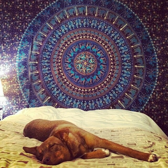 Tapestry Wall Hanging queen blue bohemian indian mandala tapestry wall tapestry