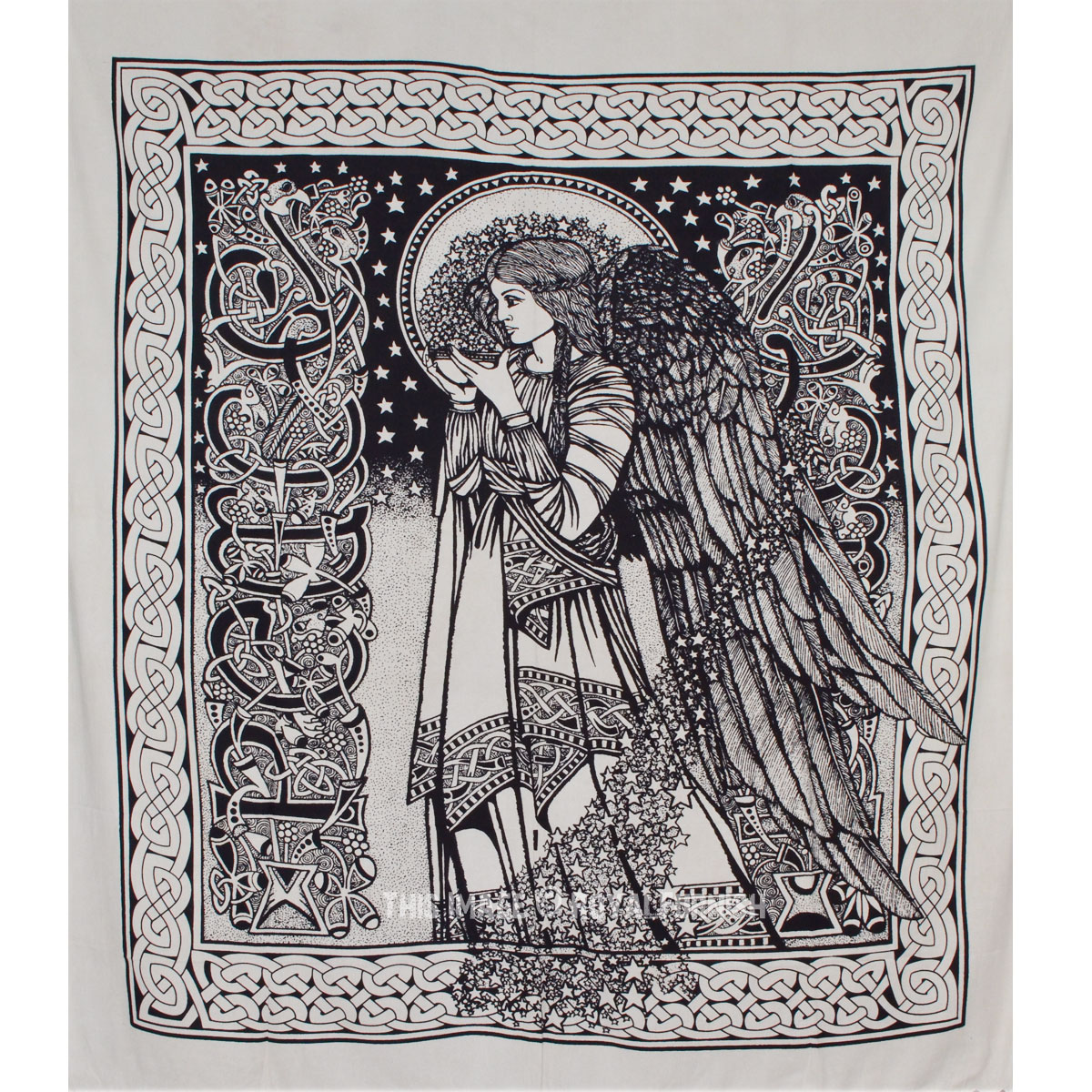 Black And White Alice In Wonderland Tapestry Fairy