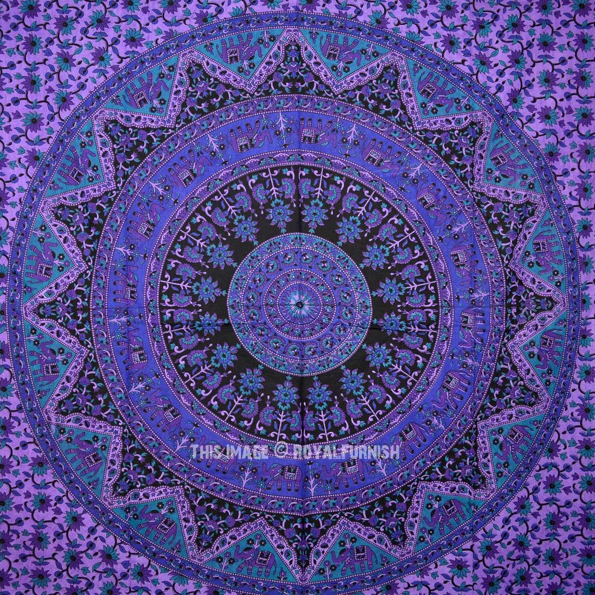 Purple Plum And Bow Bohemian Star Mandala Tapestry Tie