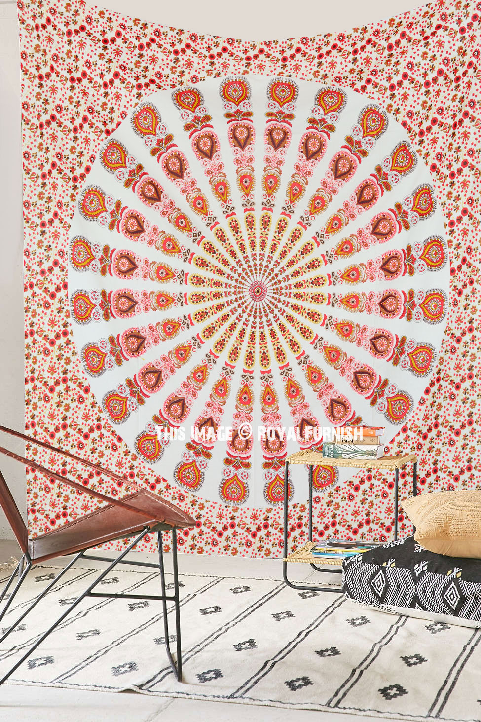Large Colorful Bohemian Mandala Tapestry Indian Hippie