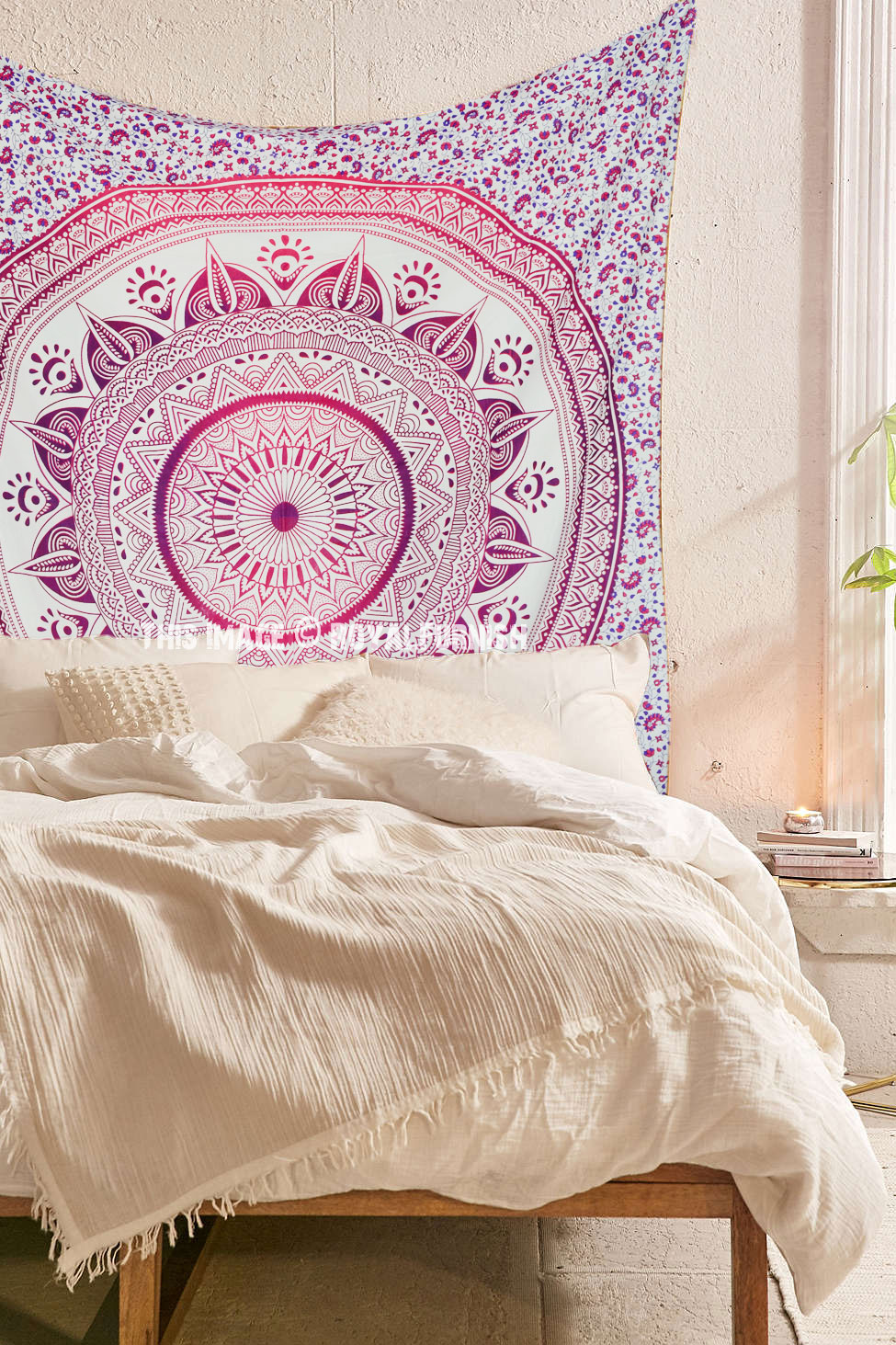 Pink Purple Multi Ombre Tapestry Hippie Mandala Bedding