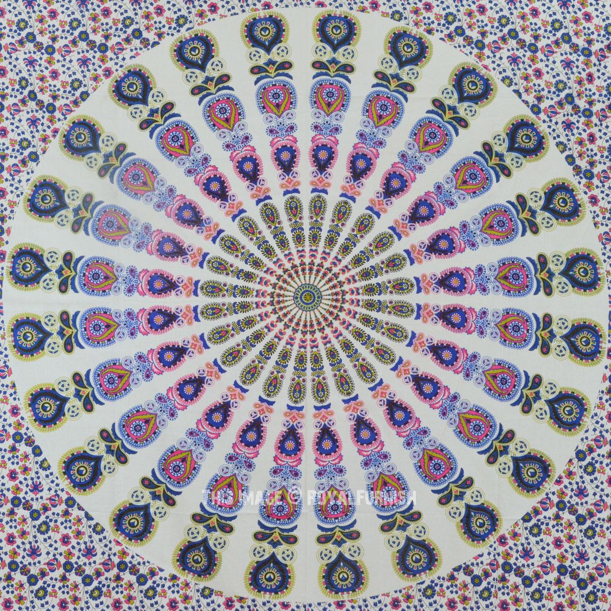 Large Colorful Cotton Bohemian Pattern Mandala Tapestry