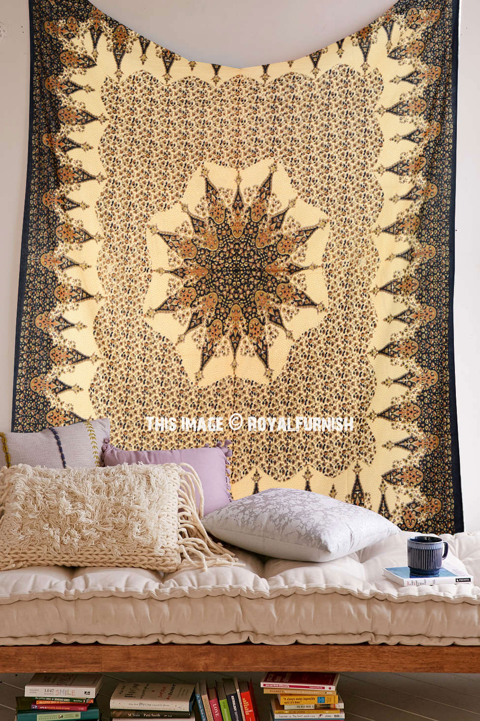 Multi Vehari Medallion Mandala Tapestry Wall Hanging