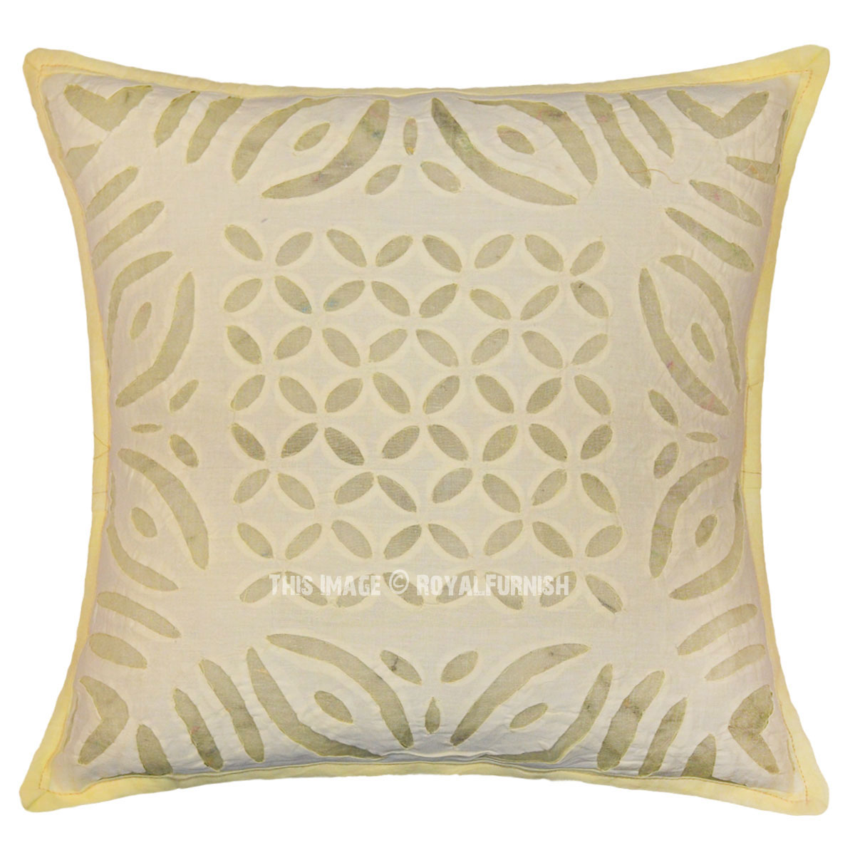 Pale Yellow Throw Pillow Cover : 16