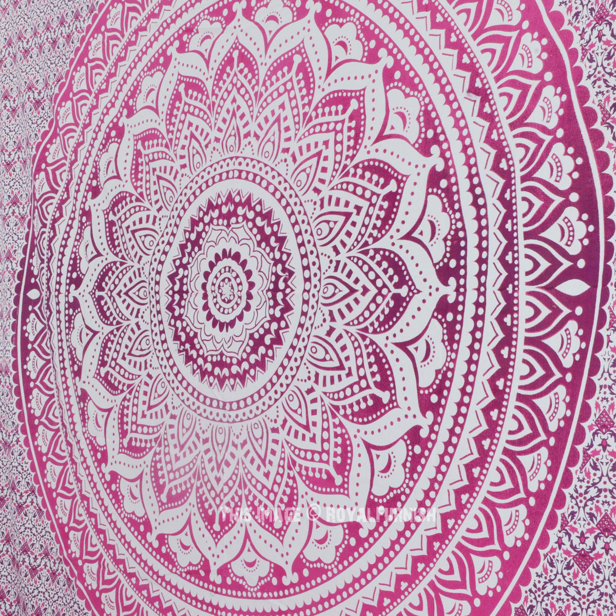 Pink Ombre Mandala Cotton Wall Tapestry Bedding