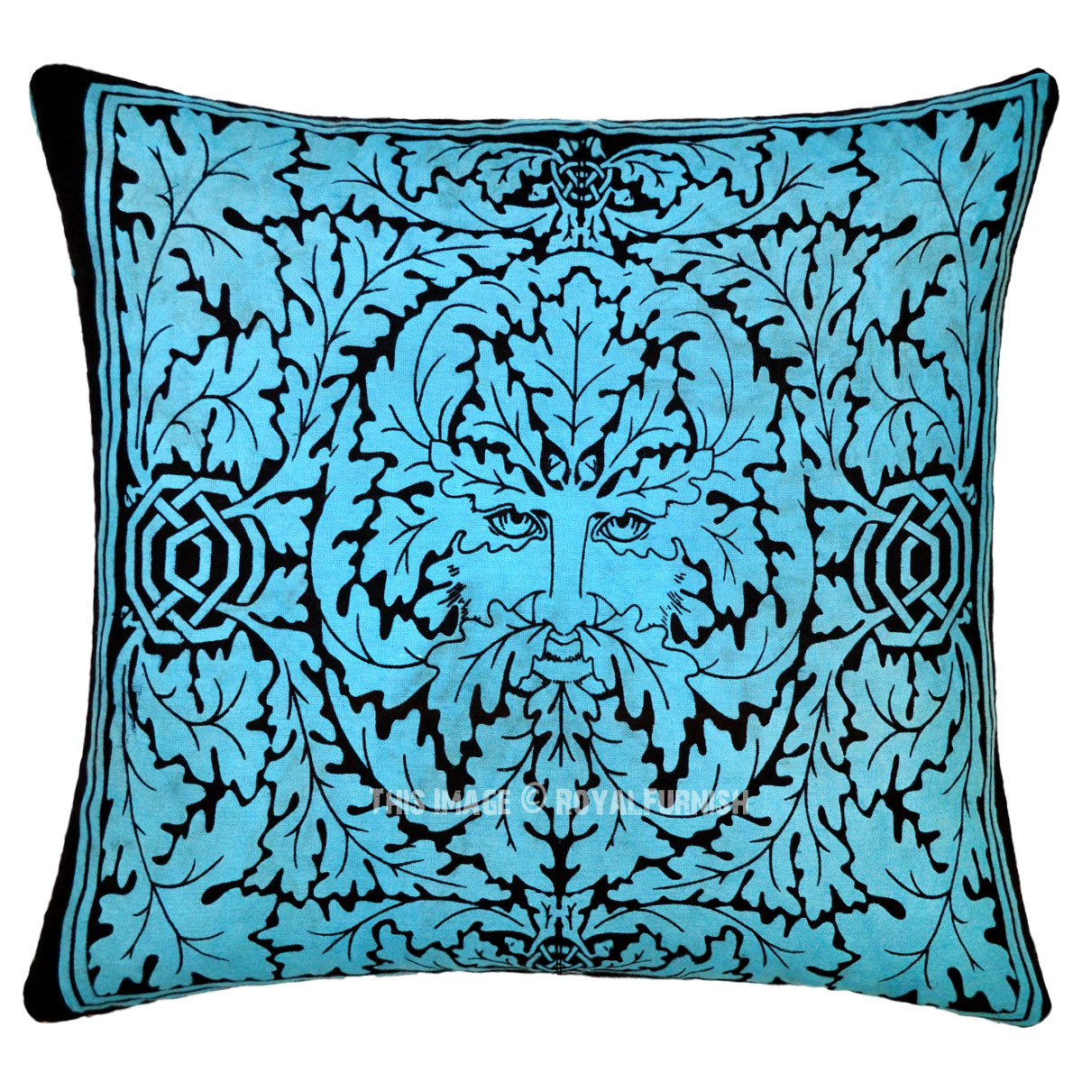 Turquoise Blue Greenman Featuring Decorative Tie Dye Throw