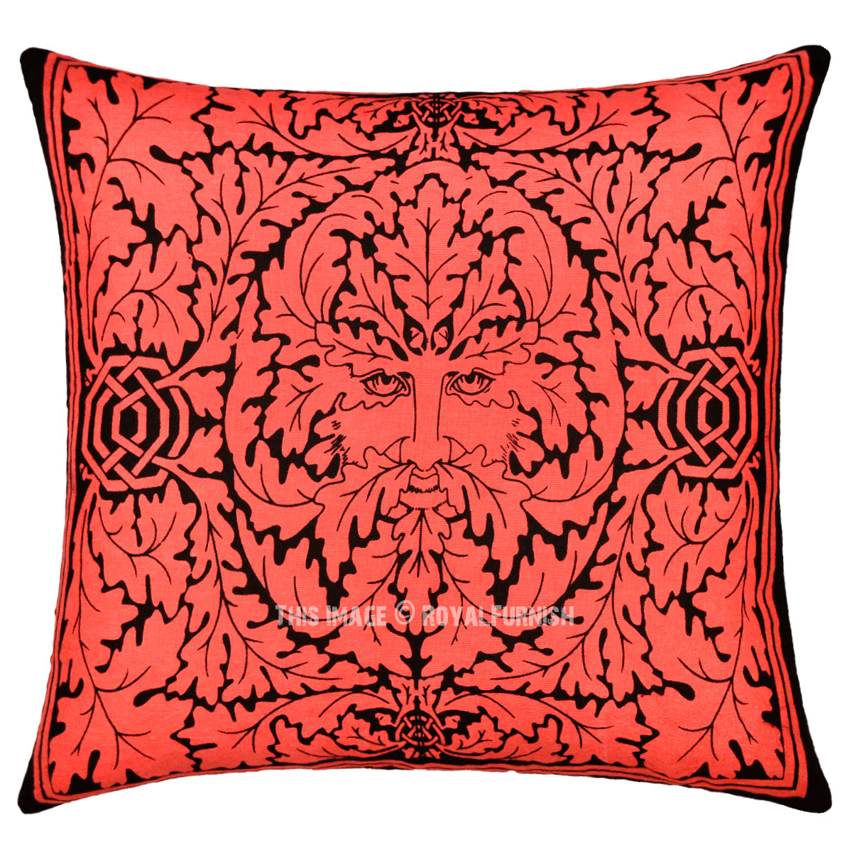 Throw Pillows Mustard Yellow : Red Greenman Featuring Decorative Tie Dye Throw Pillow Cover 16X16 - RoyalFurnish.com