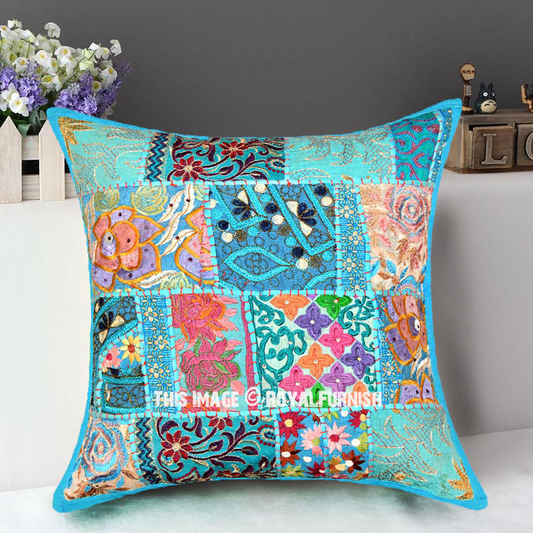 Buy cheap throw pillows bohemian colorful pillows royal for Buy pillows online cheap