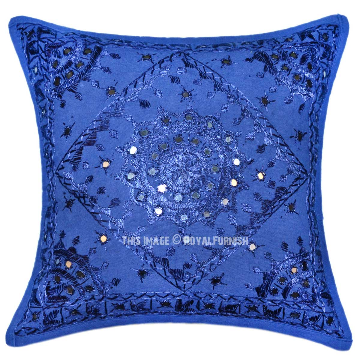 blue decorative pillows - 28 images - blue decorative mirrored unique handmade throw pillow ...
