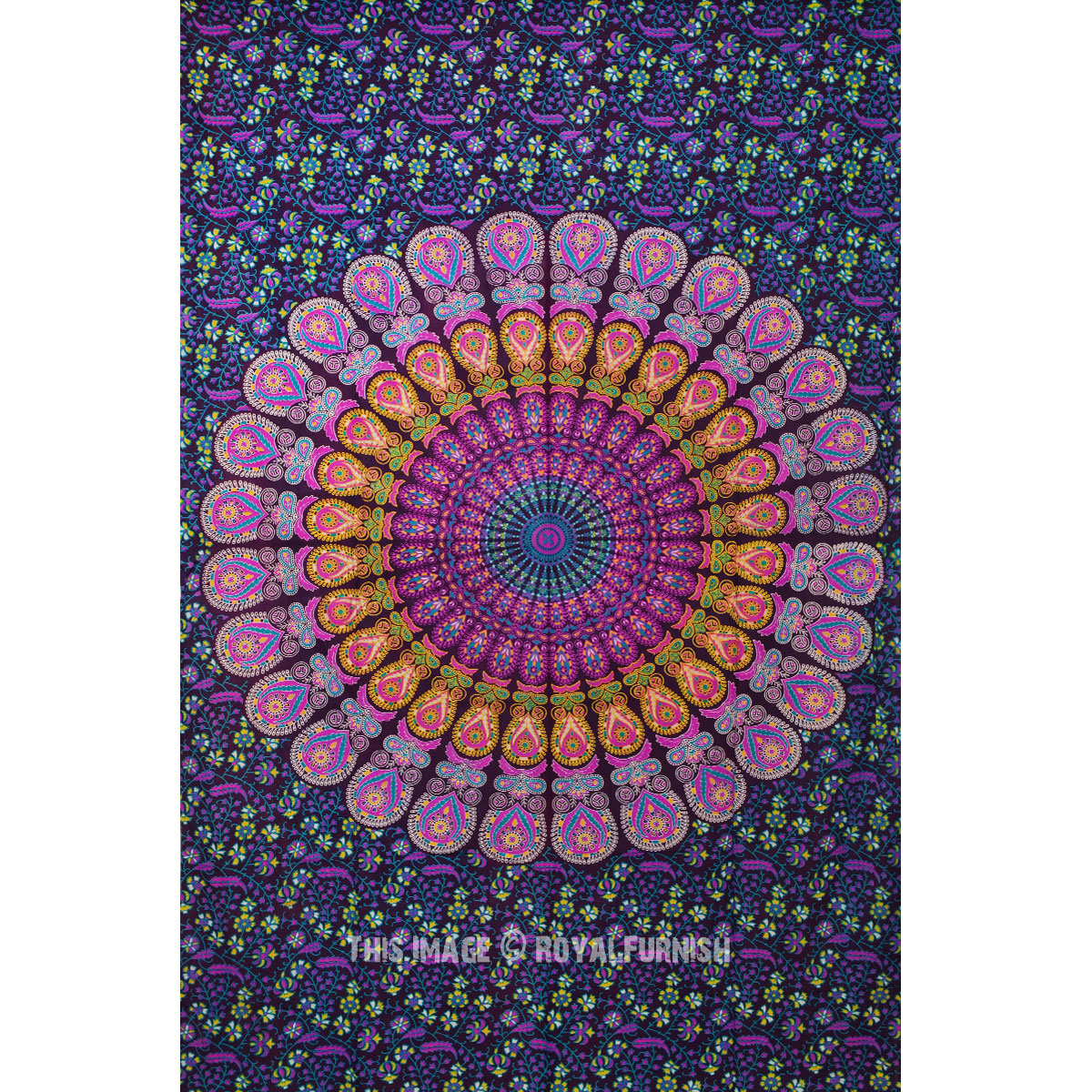 Purple Amp Pink Multi Small Medallion Mandala Tapestry