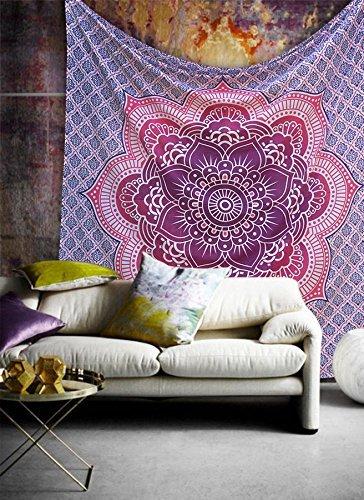 Pink Purple Flower Of Life Geometric Ombre Mandala Wall