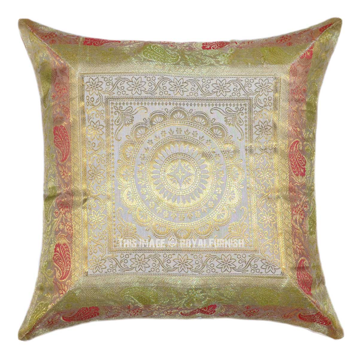 Throw Me A Pillow Coupon Code : Indian Silk Brocade Pillows & Sari Pillows - Royal Furnish