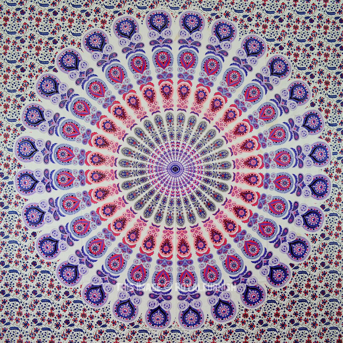 Blend Of Purple Amp White Peafowl Psychedelic Mandala
