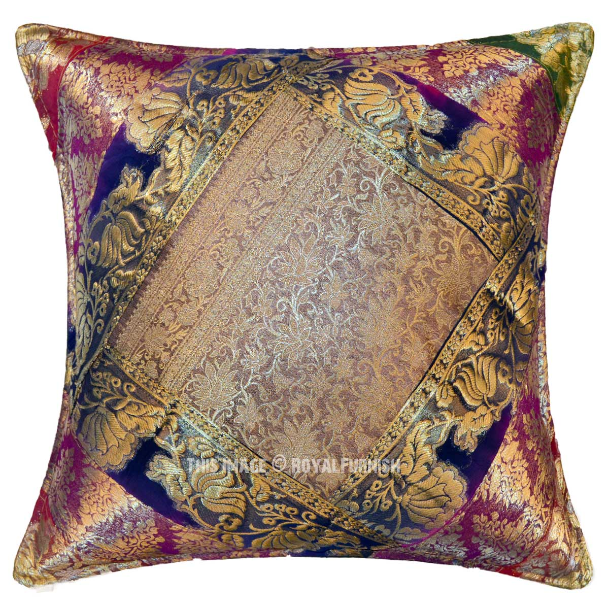 Decorative And Bohemian Multi India Old Sari Made Throw
