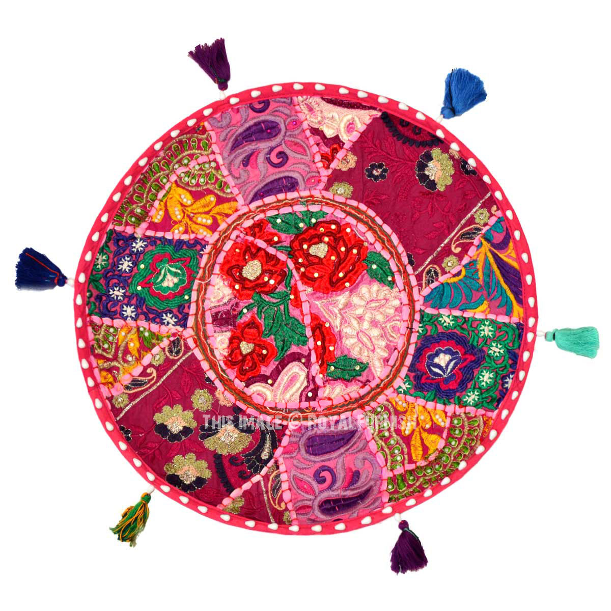 Pink Unique Handmade Kids Yoga Meditation Round Floor ...