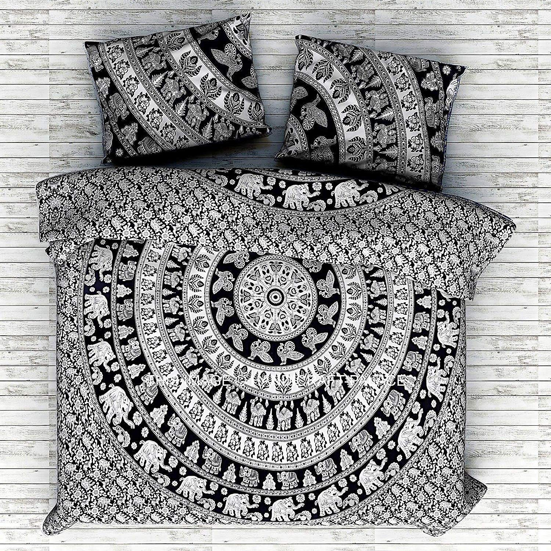 Horoscope Zodiac Mandala Boho Duvet Cover Set Astrology Doona Quilt Cover Indian
