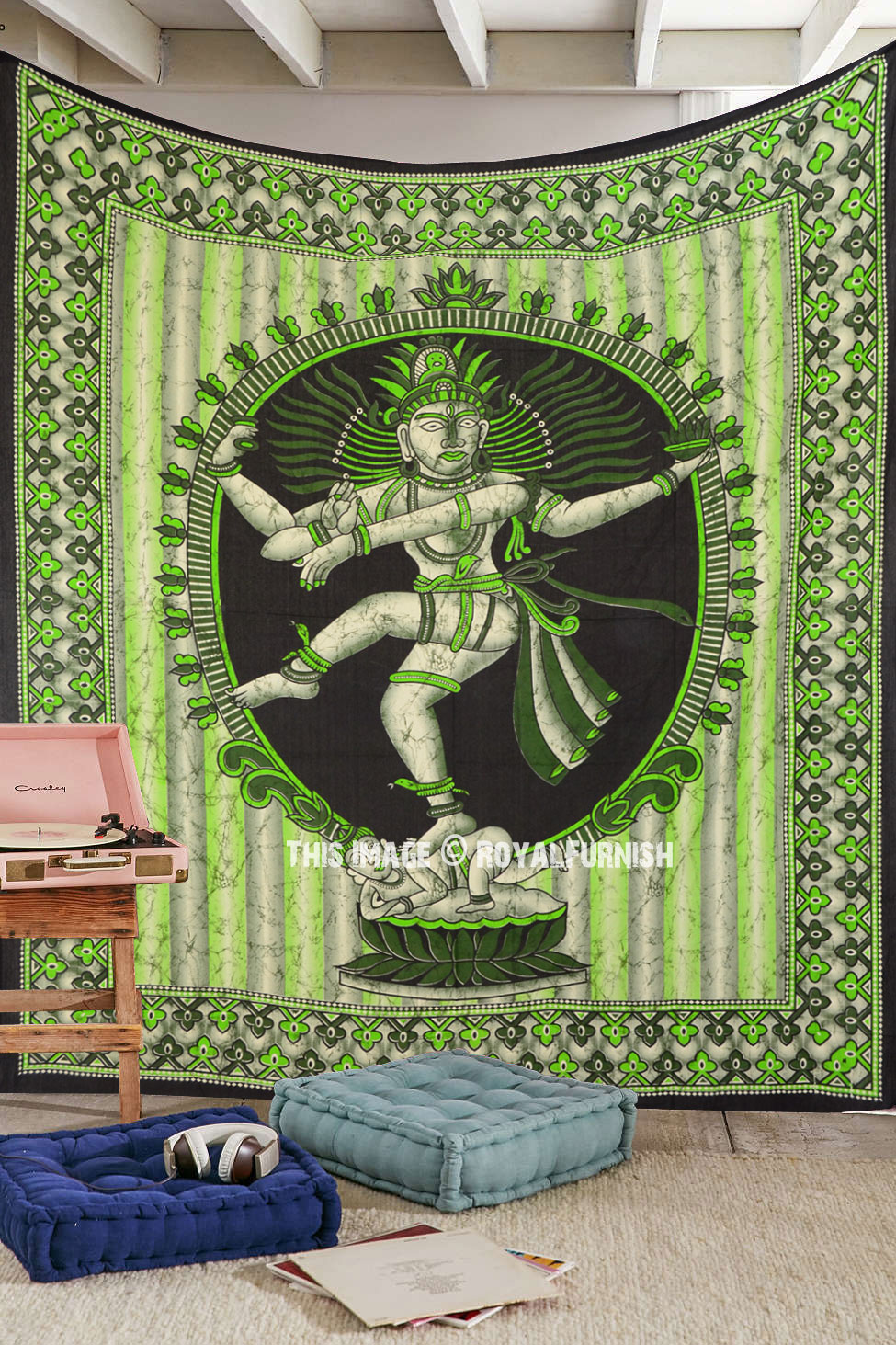 Green Multi Dancing Lord Shiva Nataraja Wall Hanging