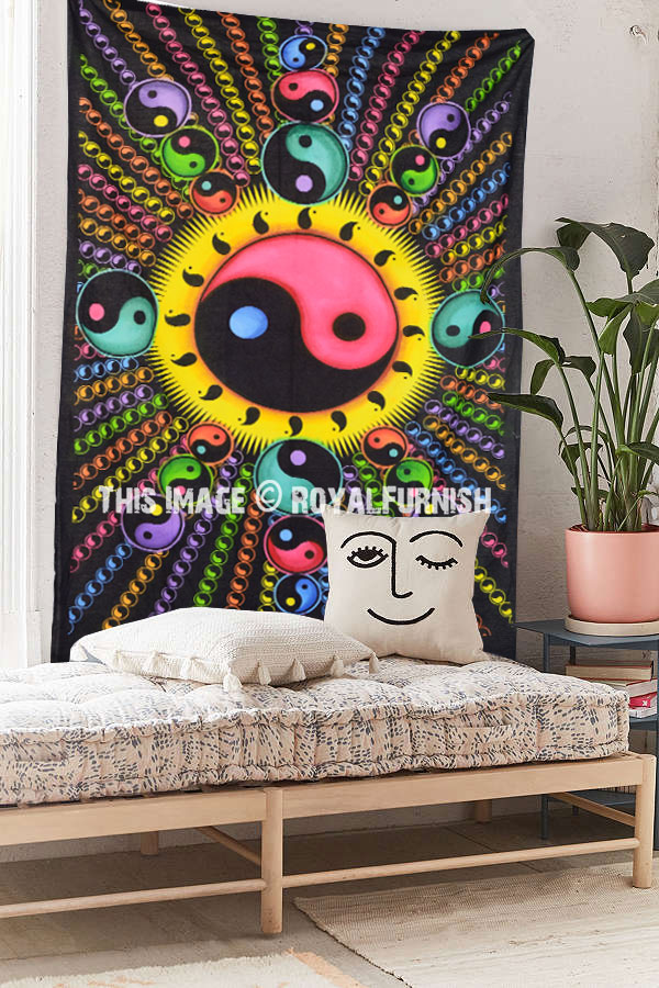 Colorful Chinese Yin Yang Hippie Tapestry Royalfurnish Com