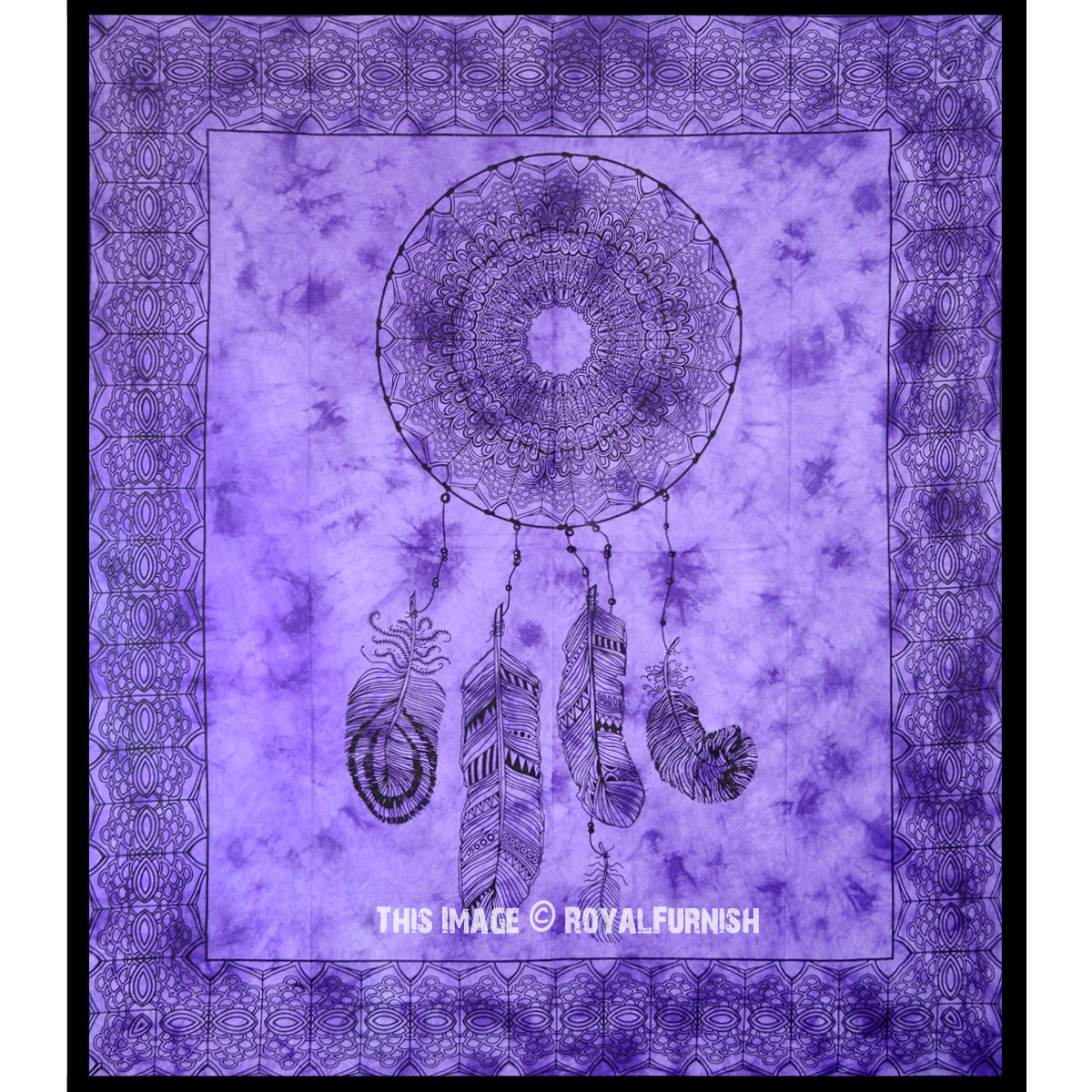Purple Dream Catcher Cotton Tapestry Royalfurnish Com