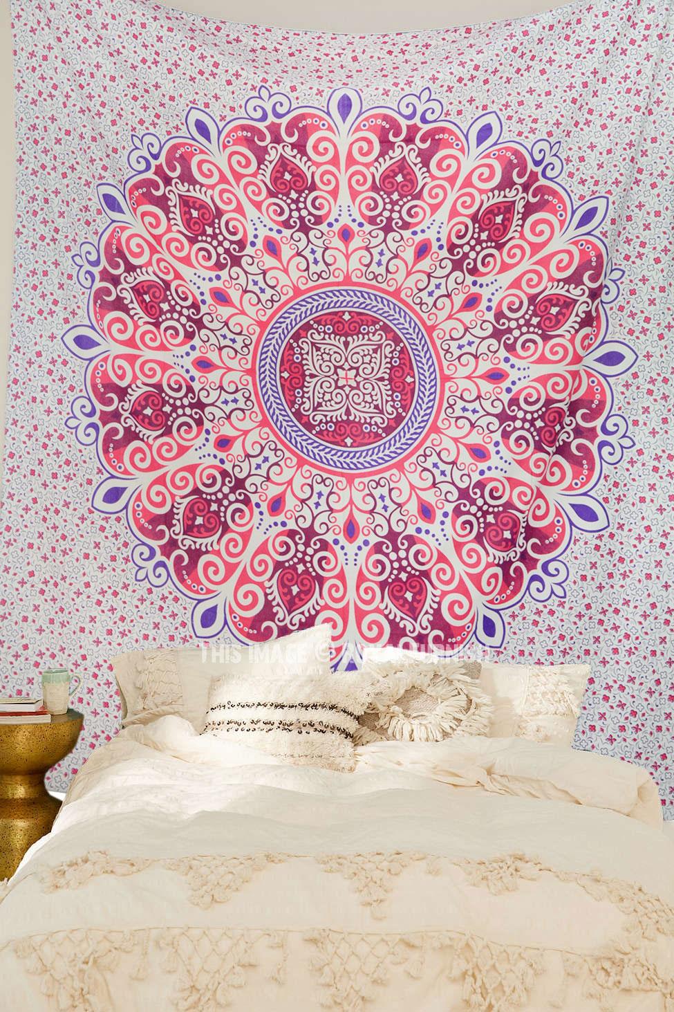 Pink Amp Purple Zumba Bohemian Mandala Tapestry