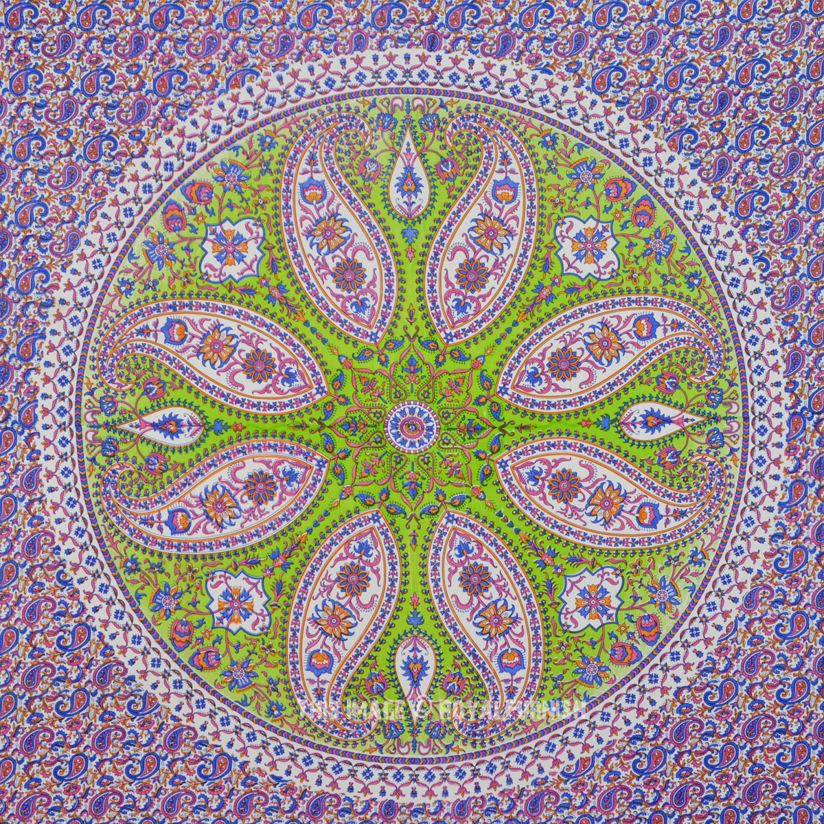 Large Purple Paisley Wheel Hippie Mandala Tapestry