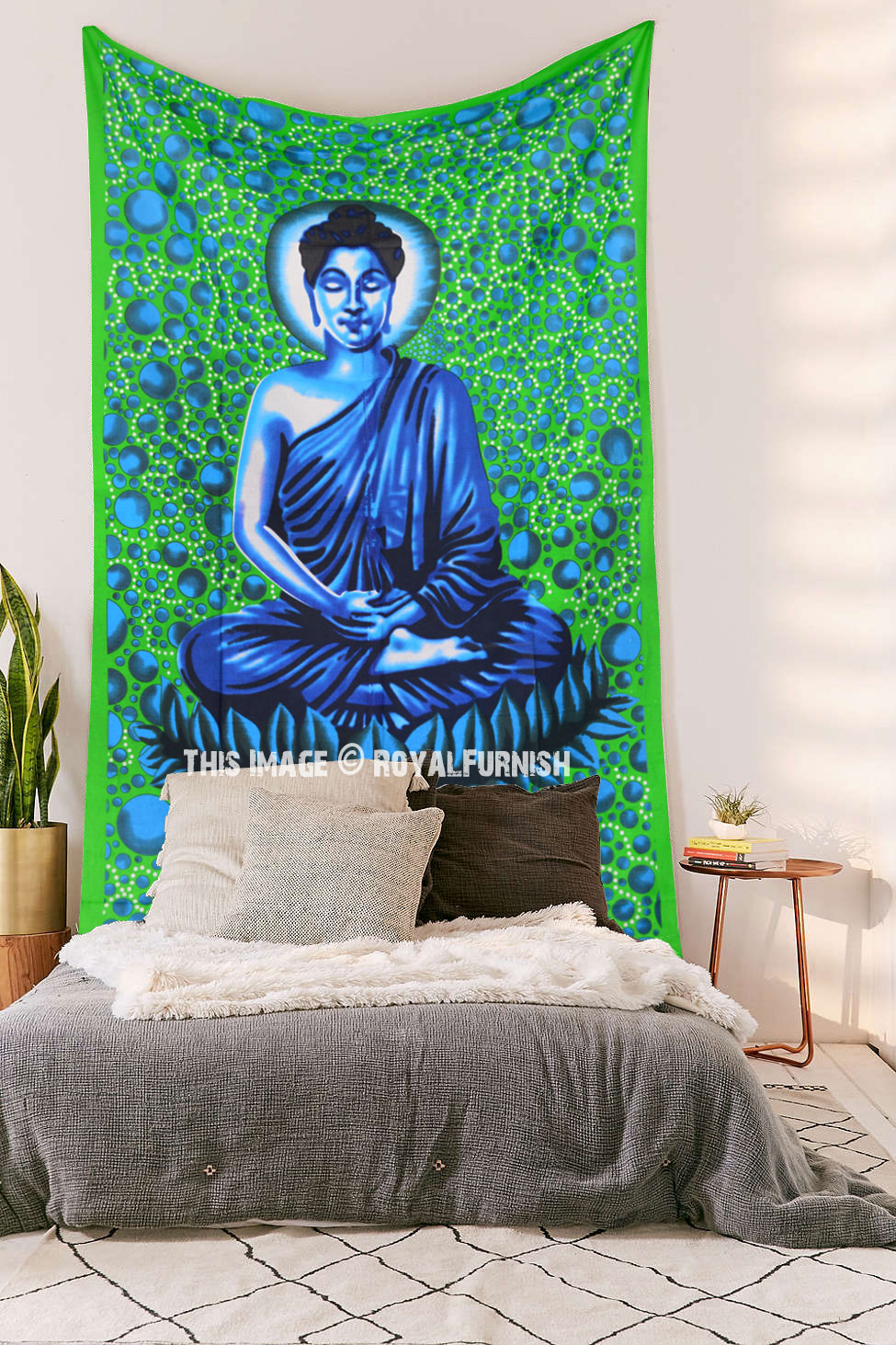 WALL TAPESTRY Buddha face painting wall hanging zen home |Buddha Wall Tapestry