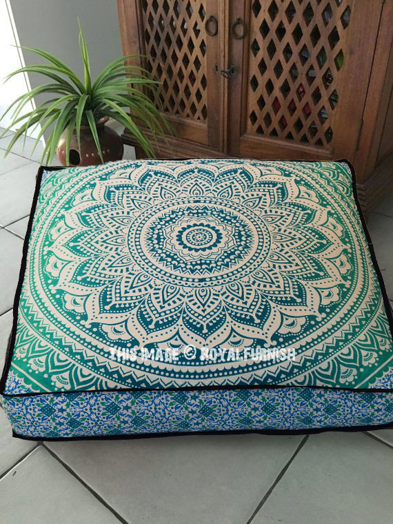 Mandala Square Floor Pillows Extra Large 36 Inch Floor