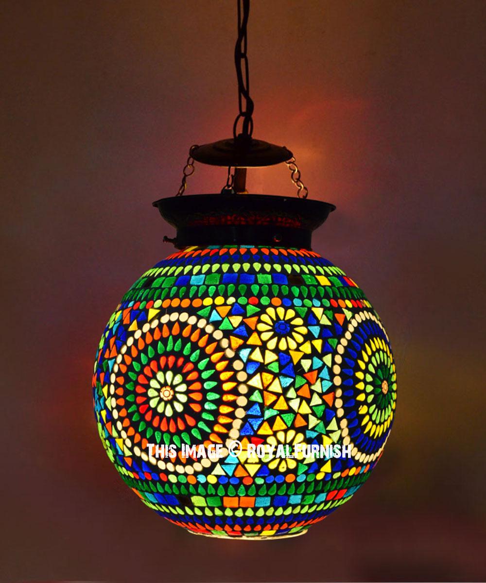 Picture of: Turkish Glass Globe Pendant Light Fixture Lamp Shade Royalfurnish Com