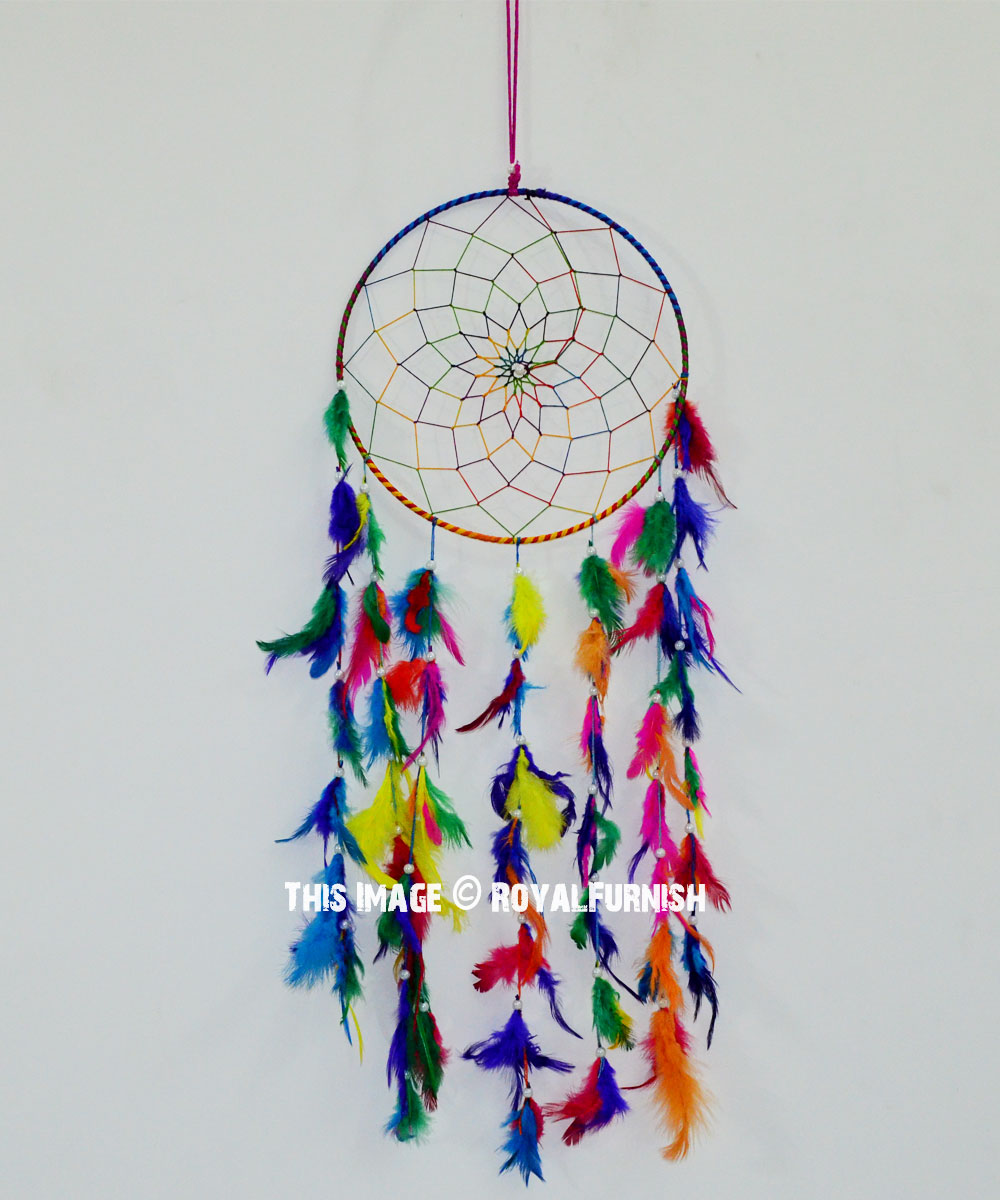 - Multi Boho Colorful Dream Catcher - RoyalFurnish.com