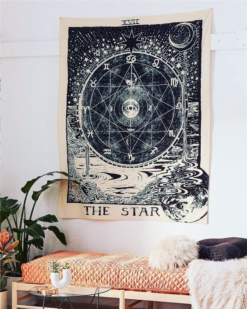 The Star Tarot Card Print Medieval Europe Divination