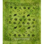Green Indian Tortoise Hippie Tie-Dye Cotton Tapestry Wall Hanging