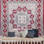 Maroon Elephant Mandala Handloom Dorm Decor Tapestry Wall Hanging Bedspread