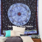 Blue Astrology Zodiac Horoscope Tie Dye Tapestry Wall Hanging