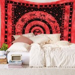 Red Queen Astrology Zodiac Horoscope Tapestry Wall Hanging Bed Cover