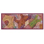 Wall Decorative Vintage Heavy Expensive Beads Embroidered Tapestry Runner