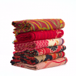 Set of 3 Wholesale Lot - Assorted Twin Indian Vintage Sari Kantha Quilt Throws