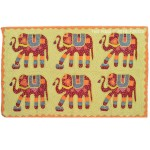 Large Six Elephants Vintage Patchwork Wall Hanging Tapestry