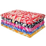 Set of 3 Wholesale Lot - Assorted Queen Kantha Quilt Blanket Ikat Print Bedding Bedspread