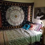 Black and White Astrology Zodiac Indian Tapestry Wall Hanging
