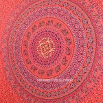 Red Psychedelic Decorative Indian Hippie Bed Cover Wall Hanging Tapestry Art