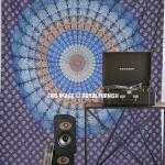 Blue Peacock Mandala Tapestry Wall Hanging Bedspread