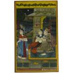 Mughal Maharaja Love Life Rajasthani Miniature Painting Wall Art