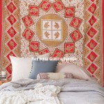 Red Elephant Handloom Mandala Tapestry Wall Hanging