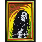 Rasta Bob Marley Fabric Cloth Poster