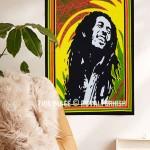 Rasta Bob Marley Fabric Cloth Poster