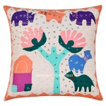 Animal, Tree Design Kids/Toddler Handcraft Indian Throw Pillow Cover