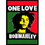 Bob Marley ONE LOVE Rasta Fabric Cloth Poster 30X40 Inch