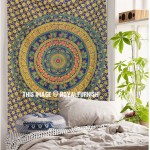 Multicolor Twin Size Hippie Bohemian Mandala Indian Tapestry Wall Hanging