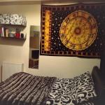 Twin Yellow Zodiac Meditation Yoga Tapestry Bedspread